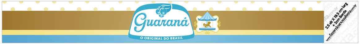 Rotulo Guaraná Carrossel Azul