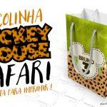 Sacolinha Surpresa Mickey Safari Grátis para Imprimir
