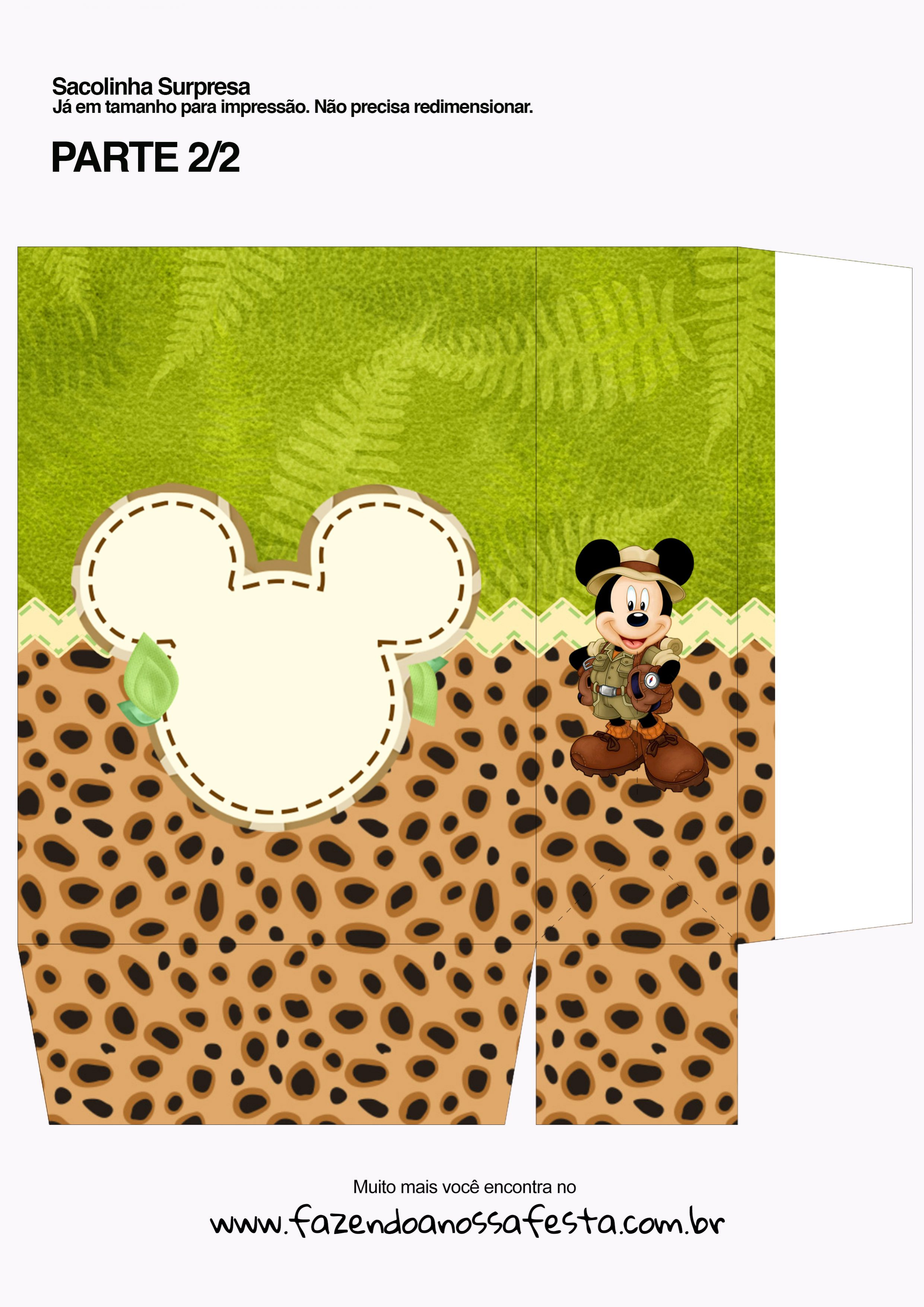 Sacolinha Surpresa Mickey Safari - parte 2