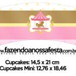 Saias Wrappers para Cupcakes Carrossel Encantado