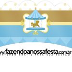 Saias Wrappers para cupcakes Kit Festa Carrossel Azul