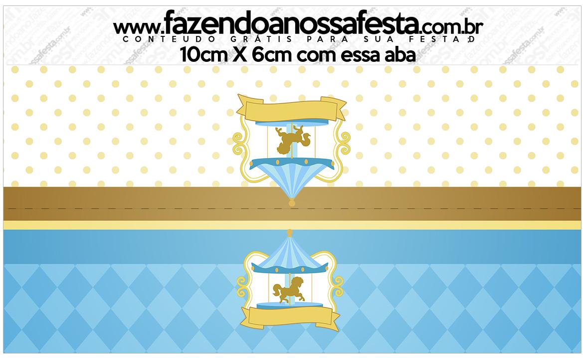 Saquinho de Balas Carrossel Azul