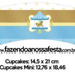 Saias Wrappers para Cupcakes Carrossel Azul