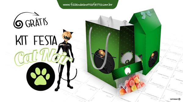 Kit Festa Miraculous Cat Noir