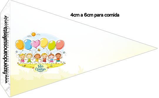 Bandeirinha Sanduiche Kit Festa Dia das Crianças