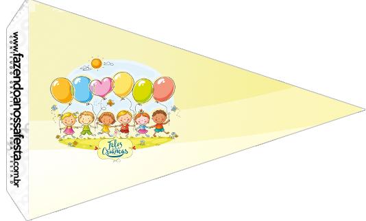 Bandeirinha Sanduiche 4 Kit Dia das Crianças