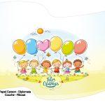 Bandeirinha Varalzinho Kit Festa Dia das Crianças