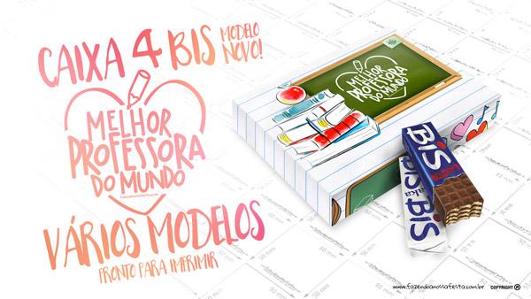 Caixa 4 bis Dia dos Professores Modelo