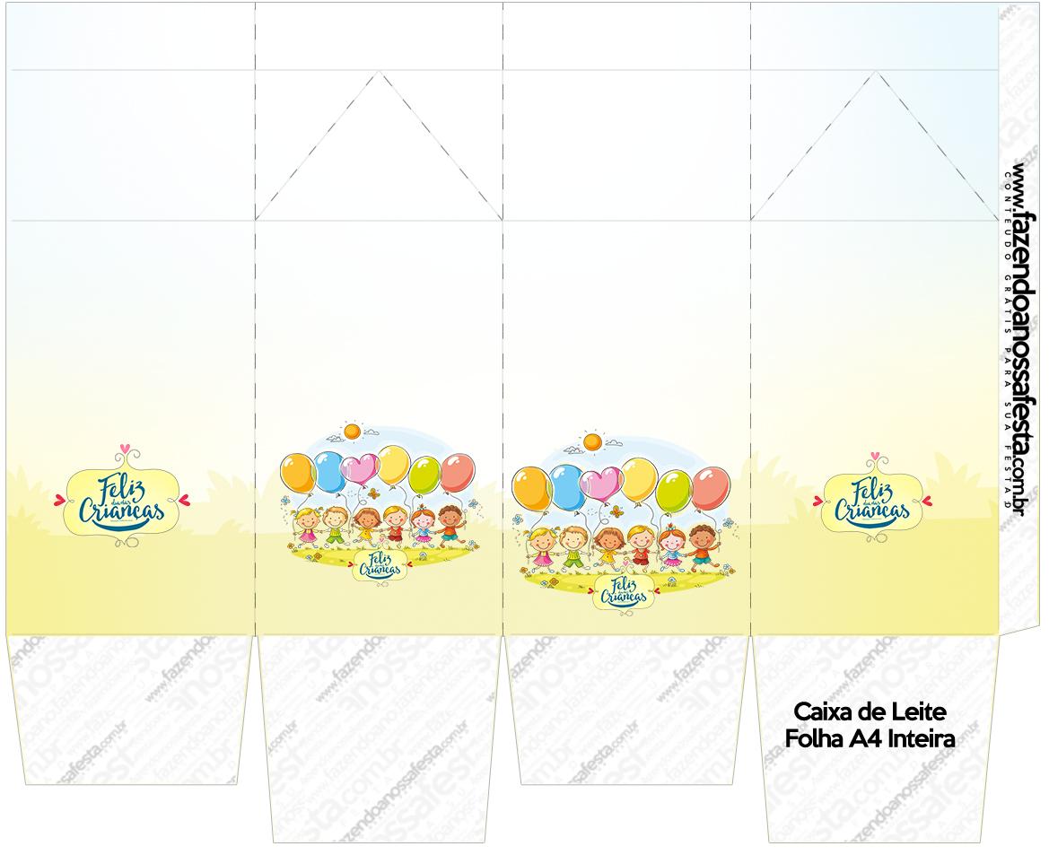 Caixa de leite Kit Dia das Crianças