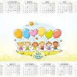 Calendário 2016 2 Kit Dia das Crianças