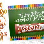 Cartão Prestígio Lembrancinha Dia dos Professores