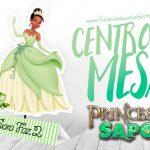 Centro de Mesa Princesa e o Sapo Modelo