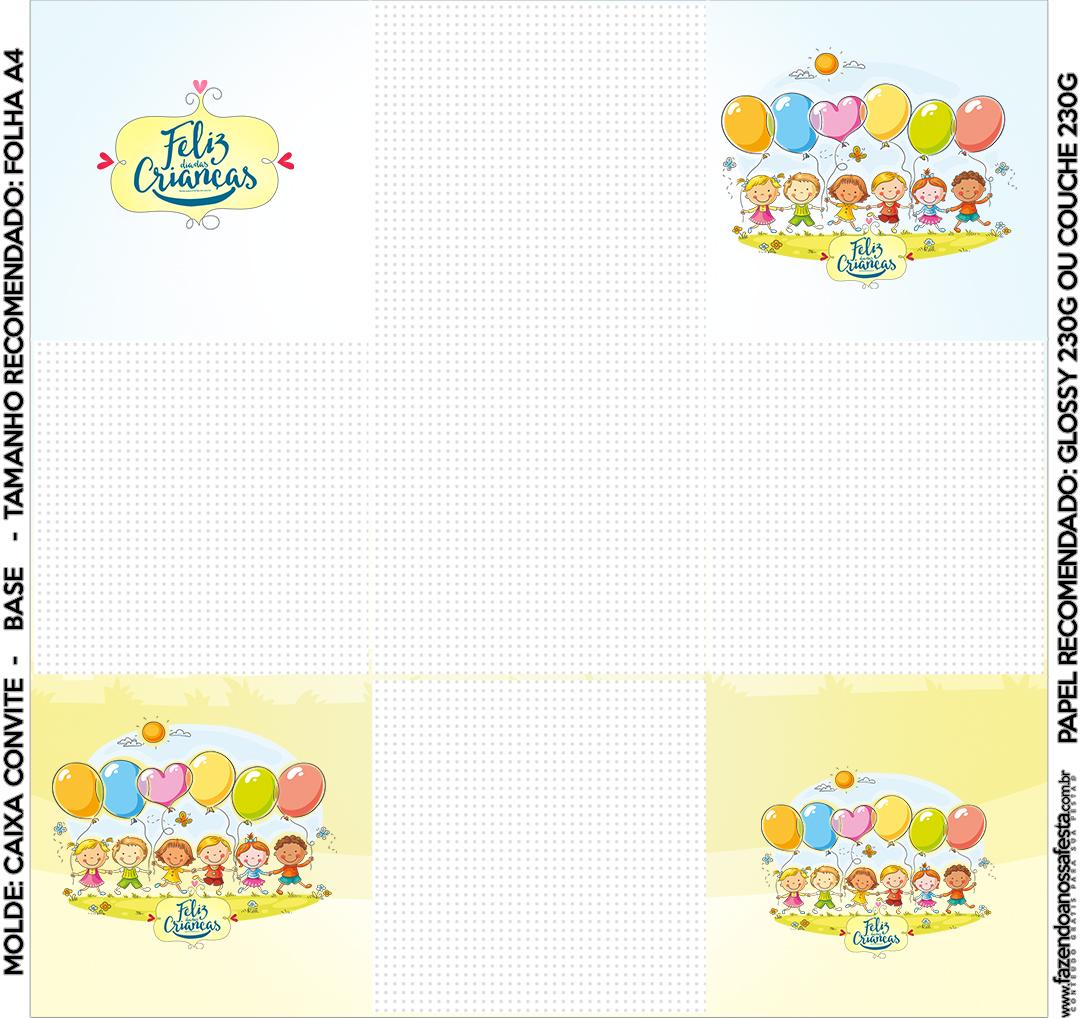 Convite Caixa Fundo Kit Dia das Crianças