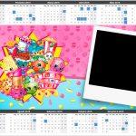 Convite Calendario com foto Shopkins