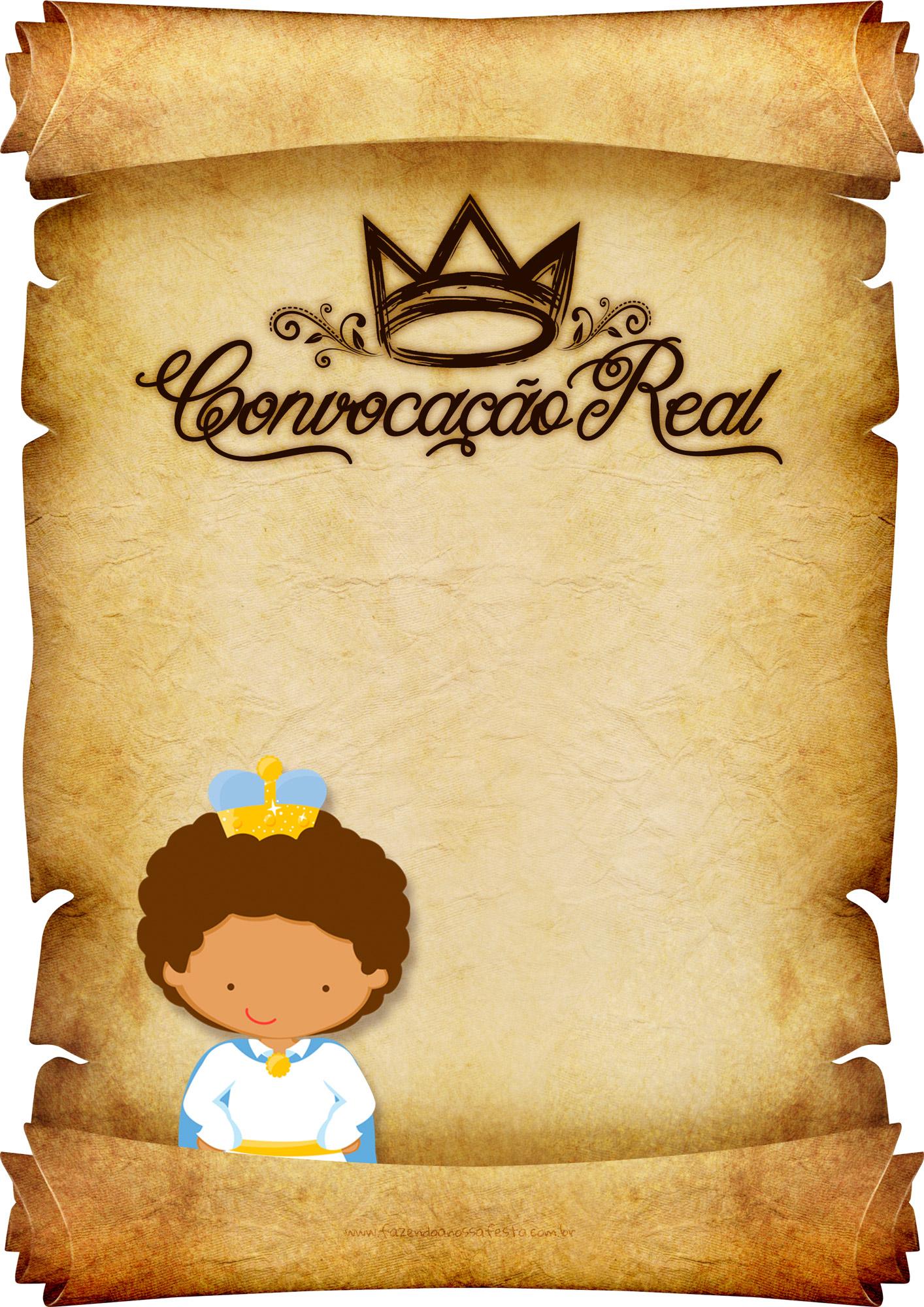 Convite Pergaminho Principe Afro 1