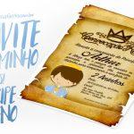 Convite Pergaminho Príncipe Moreno Grátis para Imprimir