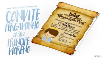 Convite Pergaminho Príncipe Moreno