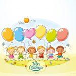 Convite para festa Kit Dia das Crianças