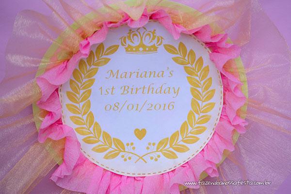 Detalhes festa Realeza da Mariana