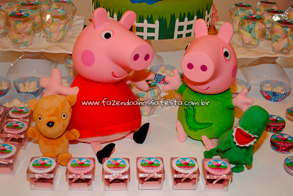 Doces Festa Peppa Pig da Maria Fernanda