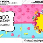 Envelope do Cartao Agradecimento Shopkins