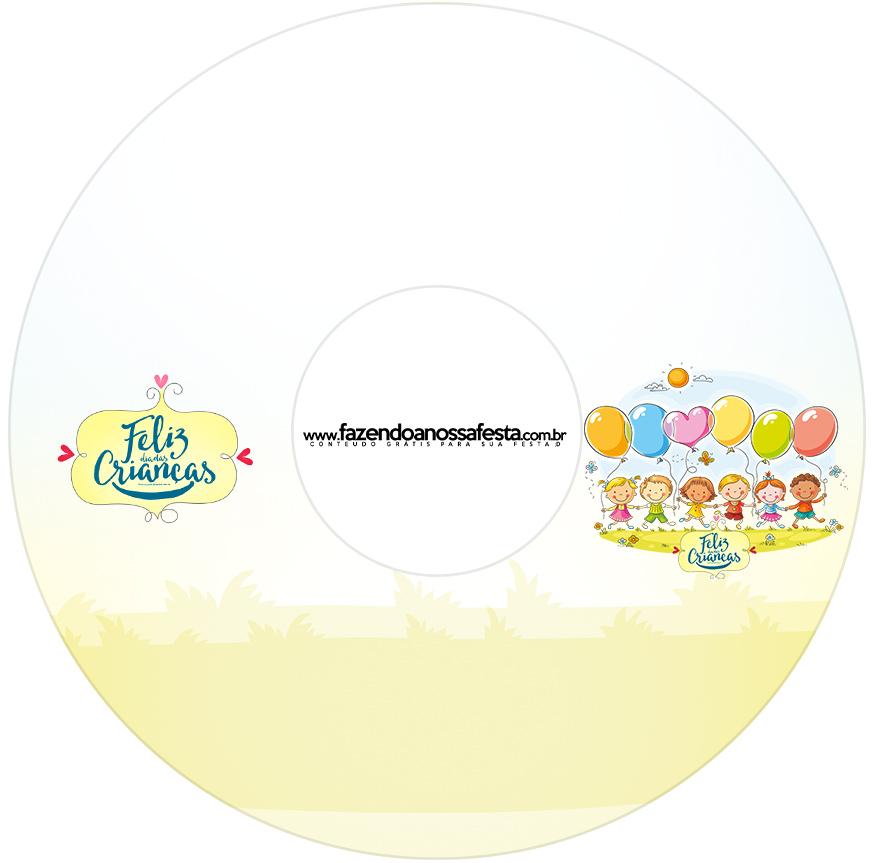 Etiqueta CD DVD Kit Dia das Crianças