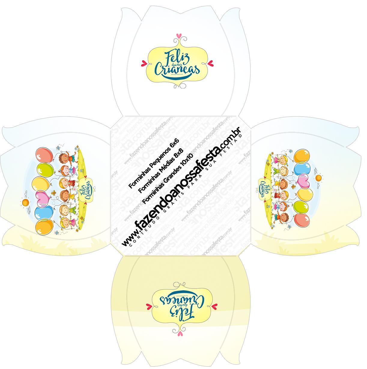Forminhas Docinhos Kit Dia das Crianças