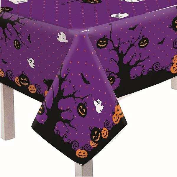 Toalha de mesa Halloween Roxa - Tudo para festa Halloween