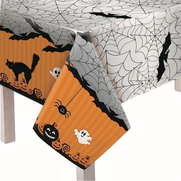 Toalha de mesa laranja - Tudo para festa Halloween
