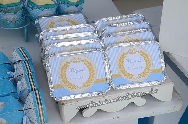 Marmitinha Mesa dos doces Festa Príncipe Miguel 1 ano