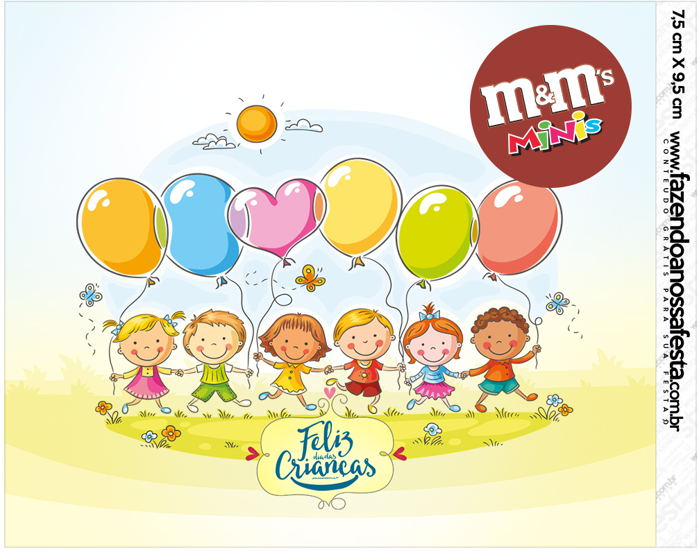 Mini M&M Kit Dia das Crianças