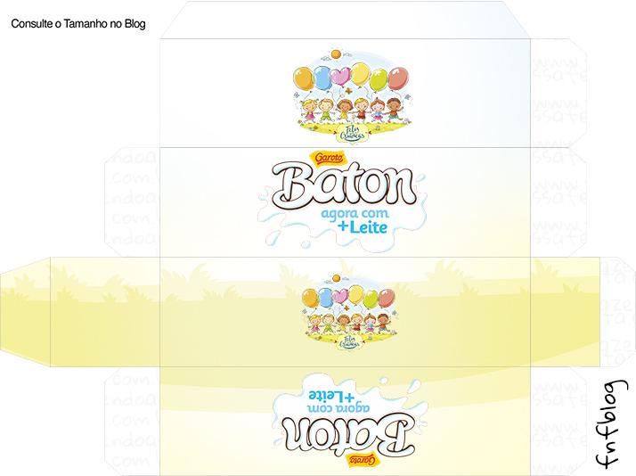 Molde Caixa Baton Kit Dia das Crianças