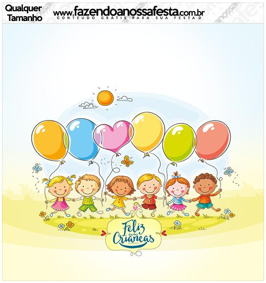 Molde Quadrado Kit Dia das Crianças