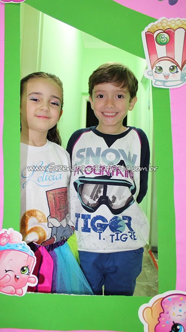 Painel para fotos Festa Infantil Shopkins