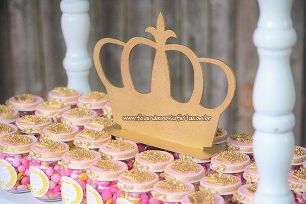 Pote de Papinha festa Realeza da Mariana