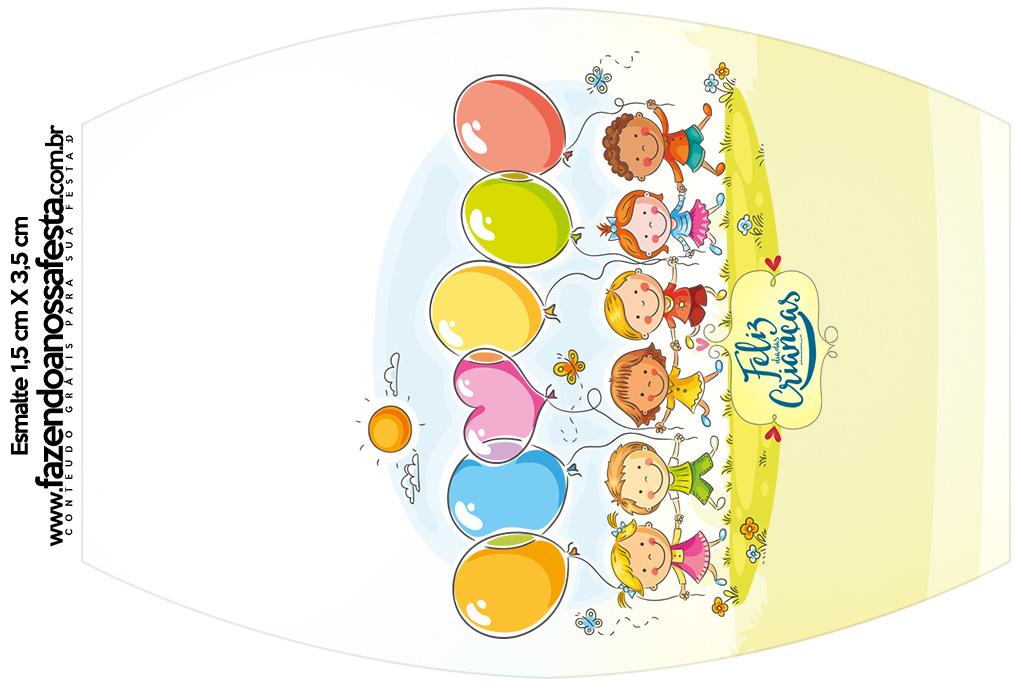 Rótulo Esmalte Kit Dia das Crianças