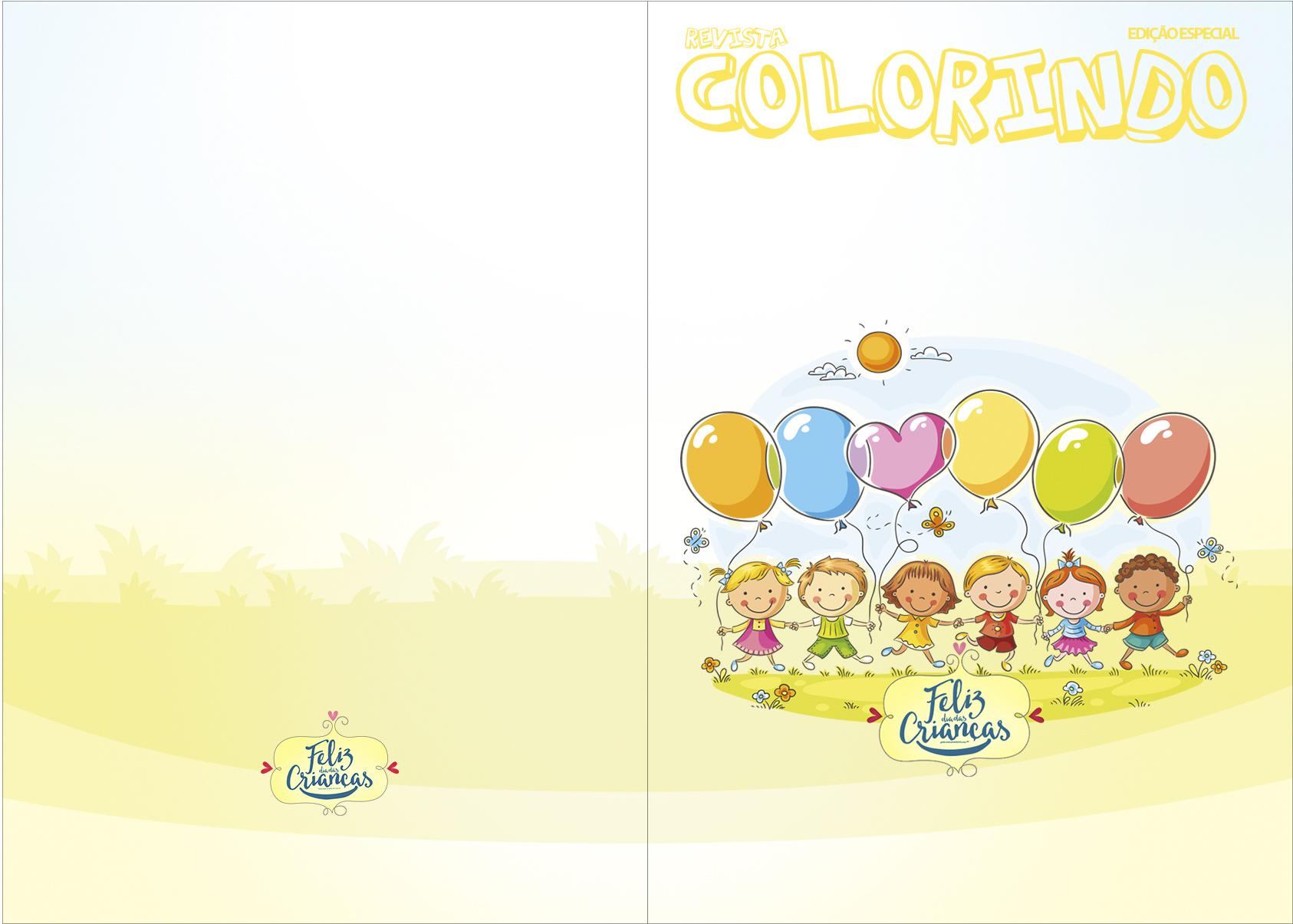 Revista Colorindo Kit Dia das Crianças