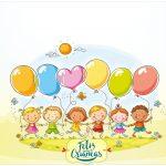 Rótulo Bolinha de Sabão Kit Dia das Crianças