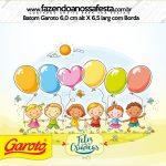 Rótulo Mini Baton Garoto Kit Dia das Crianças