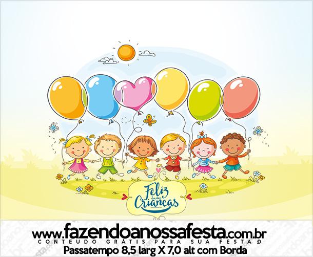 Rótulo Passatempo Kit Festa Dia das Crianças