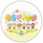 Rótulo Personalizado paz patinha e toppers Kit Festa Dia das Crianças