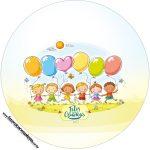 Rótulo Tubete 2 Kit Festa Dia das Crianças