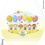 Rótulo Tubete Oval Kit Festa Dia das Crianças