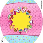 Rotulo Tubete Oval Shopkins