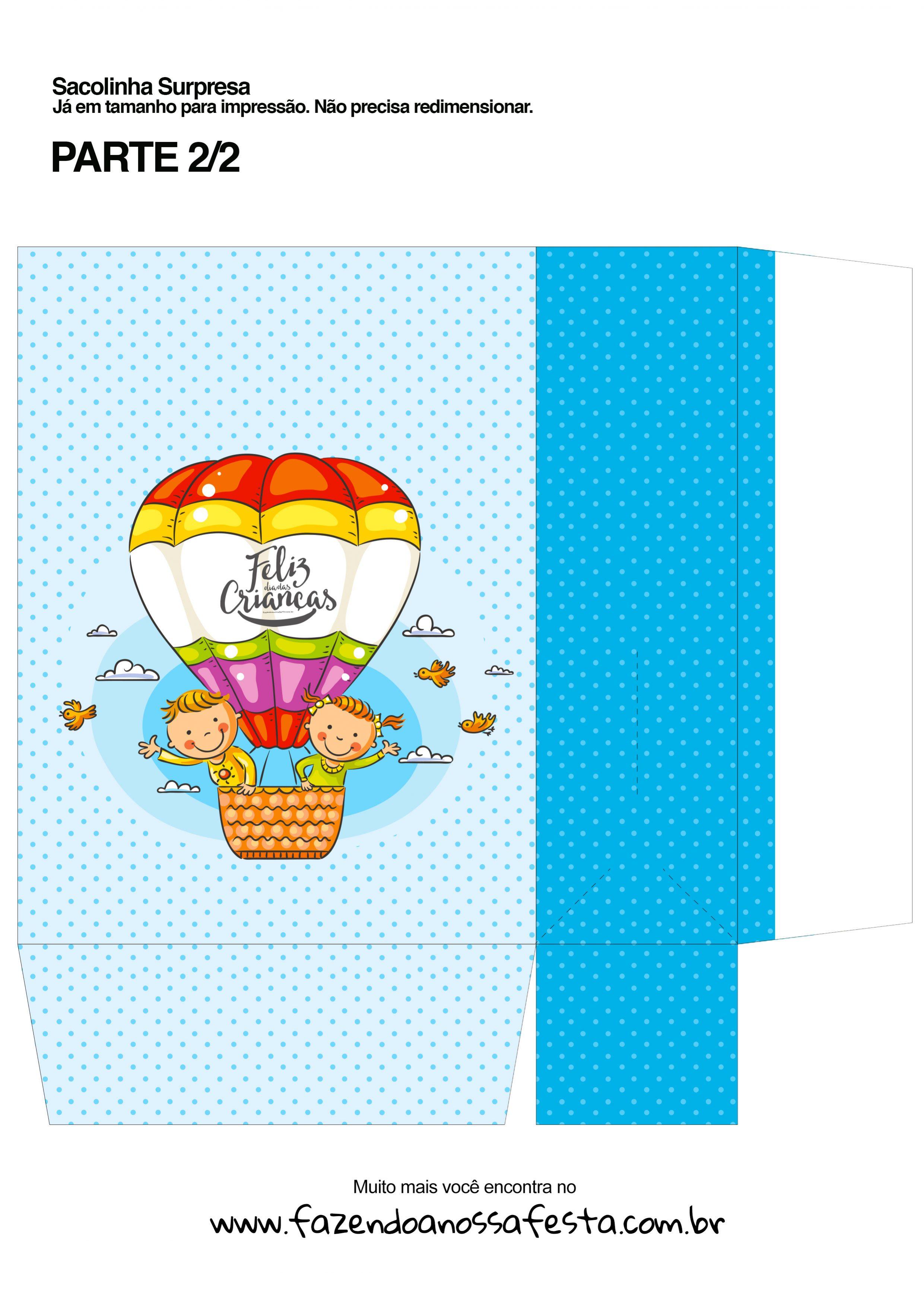 Sacolinha Surpresa Dia das Crianças Balão - parte 2