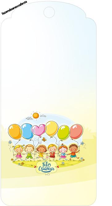 Tag Agradecimento Kit Festa Dia das Crianças