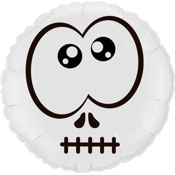 Balão Metalizado Halloween Caveira