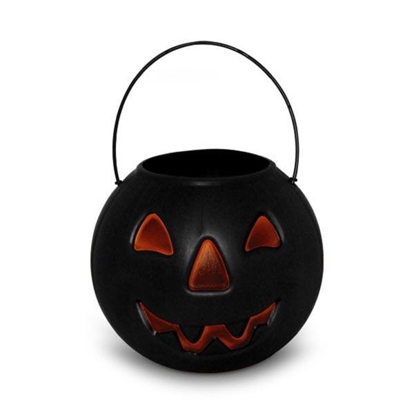 Balde Caldeirao Abobora de Halloween Preto - Tudo para festa Halloween