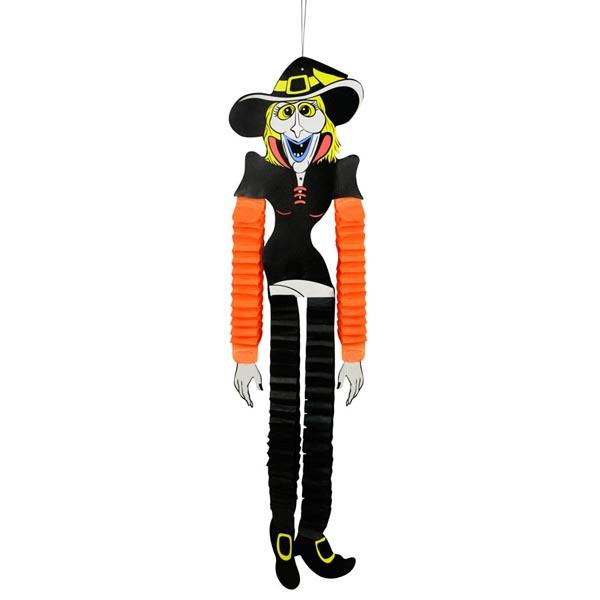 Enfeite Bruxa Papel Sanfona Halloween