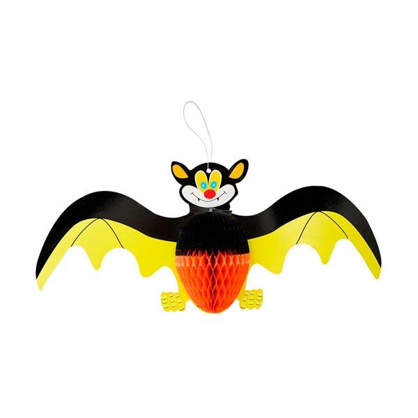 Enfeite Morcego Papel Halloween Colorido